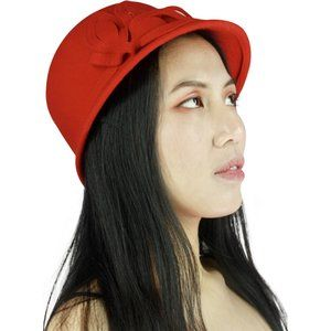 Red Wool Dress-Up Hat